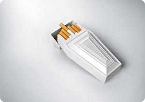 棺型のタバコパッケージ