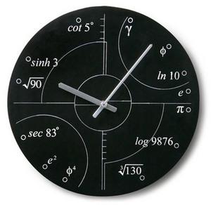 数学オタク向けの掛け時計
